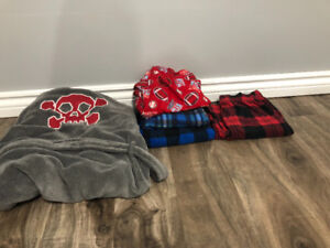 Boys pajamas and house cost for sale.