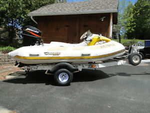 Rhino with 25 HP Merc,  Also 6 foot water biscuit, Kayak