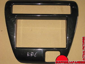 97-01 JDM HONDA PRELUDE BB6 OEM Carbon Fiber Radio Dash Trim