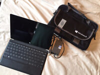 Surface Pro 2, 128 GB, 4 GB RAM with stylus, keyboard & bag