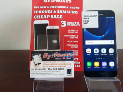 Samsung Galaxy S7 32 gb Black with 3 month warranty all accessori Southport Gold Coast City Preview