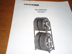 Steel construction Tire Shelf holds 4 tires