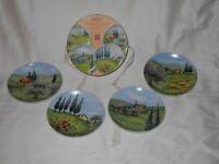Porcelain tea plates