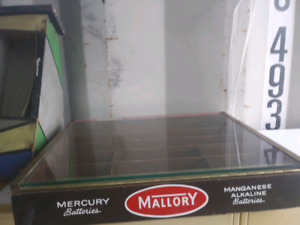 Mallory battery display case