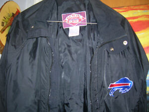 Buffalo Bills Football Team Jacket Chalk Line Rare Vintage Black