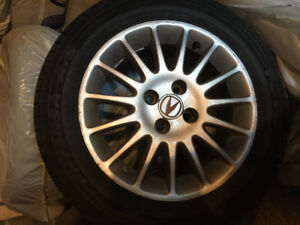 4 mags with tires acura/honda