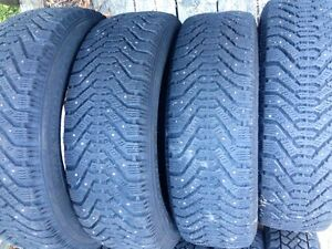 4 -195/65R15 GoodYear Studded Snow Tires