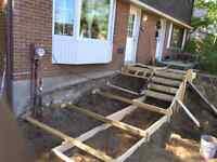 Coffrage escalier balcon trotoir dalle flotante