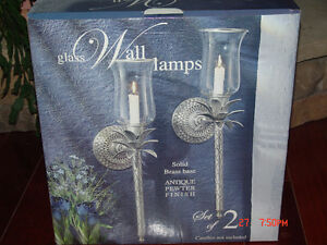 pewter wall sconces