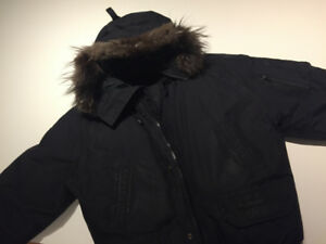 Black Label Canada Goose Jacket Bomber (mens M with fox fur)