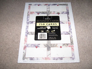 Domtar Laser Perforated Business Cards-250 cards-new/sealed +