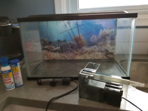 10 gallon fish tank + accessories