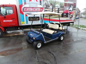 2001 CLUB CAR DS GAS - GOLF CART - 4PASSENGER BLUE