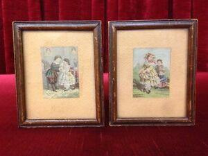Antique Baxter Miniature Oil Prints c.Pre 1867        $50 EACH