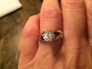 Simulated Diamond Two-tone Ring St. John's Newfoundland image 1
