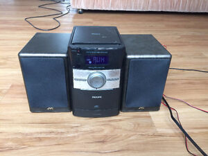 Philips Audio Music Player/Center + 2 JVC Speakers Kitchener / Waterloo Kitchener Area image 1