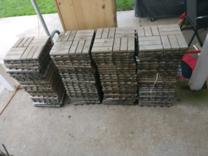 103, 1 square foot interlocking wooden patio tiles