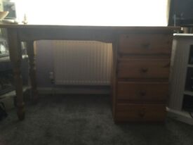 Pine solid used desk