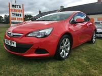 12 VAUXHALL ASTRA GTC 1.7 CDTI SPORT £30 TAX 60000 MILES FSH RED VERY CLEAN CAR