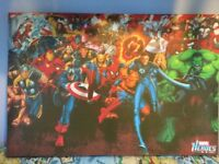 Marvel stretched canvas picture