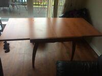 Fold away dining table