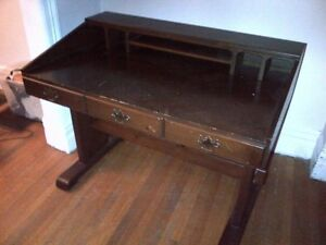 ANTIQUE DESK AND DRESSER, CHAIR & ROCKING CHAIR(separate prices)