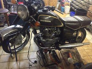 Honda CB500T '75 (projet pas cher, peu à faire dessus)