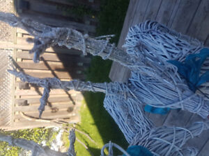 Wicker reindeers in great condition with light up nose
