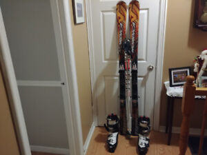 Complete Downhill Ski Set With Limited Use