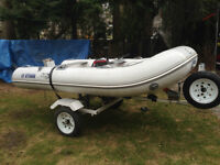 RIB Boat, Motor and Trailer