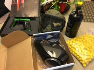 Paint ball and accessories