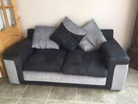 Two nearly new two seater sofas