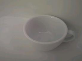ELVIERO WHITE PORCELAIN COFFEE / TEA CUPS MUGS WHITE X12 JOBLOT