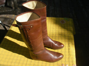 Alpina womens boots - 7 soft glove leather hand made brown