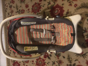 Baby car seat, baby bag and baby high chair