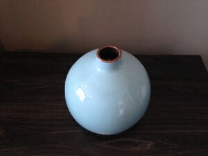 Lucan - (SOLD PPU) Baby Blue Decorative Round Vase London Ontario image 1