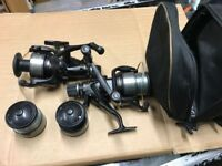 2 shimano. 8000 baitrunner reels with spare spools