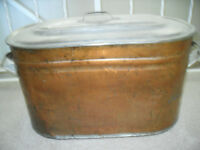 Antique Copper Boiler with Lid