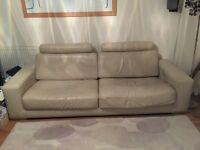 Leather 4 seater sofa.