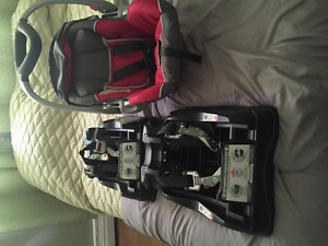 Baby Trend car seat with 2 bases