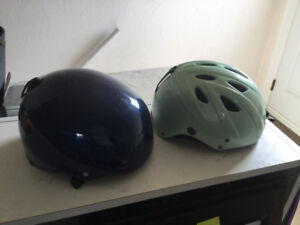 Helmets for skiing or snowboarding
