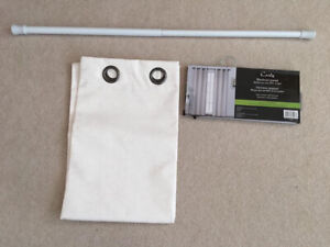 BRAND NEW & NEVER USED Curtain Panel & Extendable Rod
