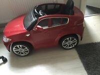 Kids battery operated BMW X6 ride in car