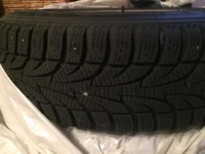 "PONTIAC WAVE SNOW TIRES & RIMS 185/60R15"" ON 5X100 BOLT"