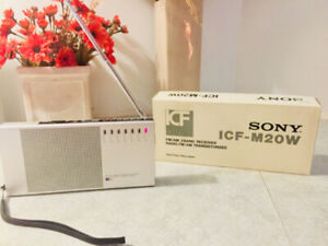 SONY - VINTAGE - FM/AM 2 BAND RADIO - ICF-M20W–PERFECT CONDITION