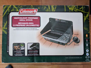 Coleman matchlight propane perfect flow Grill Stove - New