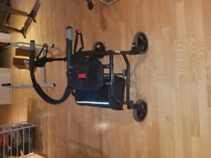 Walker, shower chair, stand alone toilet support