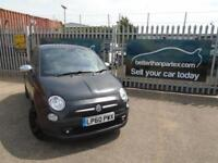 2011 FIAT 500 LOUNGE 1.4 PETROL MATT BLACK AIR CON GLASS ROOF LOW MILEAGE