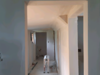 Free estimate.  Drywall and tape,coat,sand ready to paint.