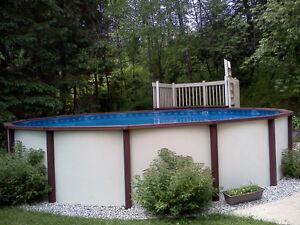 Deck de piscine hors terre acheter et vendre dans qu bec for Achat toile de piscine hors terre